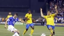 Everton-Juventus 1-1 (7-6), il gol degli inglesi con Mirallas
