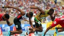 Usain Bolt vince la medaglia d'oro nei 100 metri