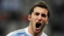 Il gol del vantaggio dell'Argentina contro l'Italia: la fucilata di Higuain