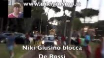 Daniele De Rossi, manda a quel paese il disturbatore tv Niki Giusino