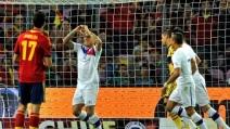 Il primo gol di Vargas in Spagna-Cile 2-2 (amichevole)