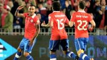 I gol di Vidal e Vargas in Cile-Venezuela 3-0 (qualificazioni mondiali 2014)