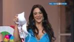 Marika Fruscio esulta ai gol del Napoli