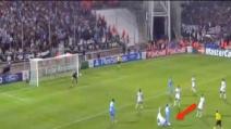 Il tacco di Mertens libera al gol Zapata (Marsiglia-Napoli 1-2)