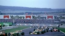 Schumacher tampona Senna durante il Gp di Francia 1992