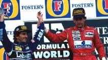 Quando Senna fece salire Prost sul gradino più alto del podio