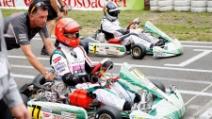 Michael Schumacher e Sebastian Vettel si sfidano sui Kart