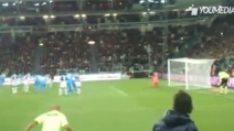 Il gol di Llorente contro il Napoli visto dalla prospettiva del guardalinee