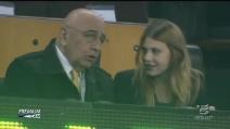 Adriano Galliani e Barbara Berlusconi al Camp Nou