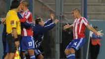 Sanabria in gol con la maglia del Paraguay