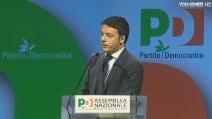 """Renzi all'assemblea del PD: """"Casa nostra è sulla frontiera non al museo delle cere"""""""