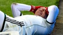 Lo spaventoso infortunio di Robben nella gara con l'Augsburg