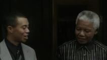 Nelson Mandela incontra il campione di golf Tiger Woods