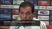 Massimiliano Allegri parla della sfida contro il Livorno