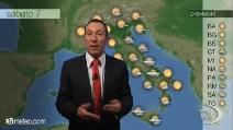 Previsioni meteo per sabato 7 dicembre