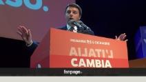 I festeggiamenti per Matteo Renzi segretario al Teatro Obihall di Firenze