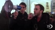 """A Torino la """"contro-manifestazione"""" degli studenti anti-forconi"""