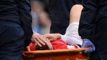 L'infortunio a Koscielny duranta la gara tra Manchester City e Arsenal
