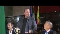 A Rafa Benitez la cittadinanza sportiva di Napoli