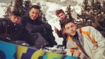Le vacanze sulla neve di Timor Steffens e Rocco, il figlio di Madonna