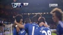 Il gran gol di Hazard contro il Liverpool