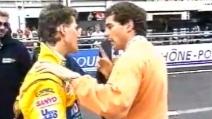Senna discute con Schumacher