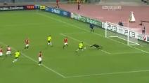 Il gol di Cabral con la maglia del Basilea alla Roma