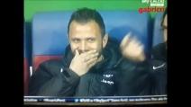 Pepe e Pirlo prendono in giro Conte dalla panchina