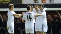 Ronaldo, primo gol da Pallone d'Oro contro l'Osasuna