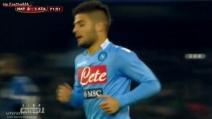 Il gol di Insigne in Napoli-Atalanta non è in fuorigioco