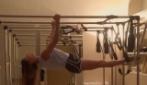 Belén Rodriguez fa pilates