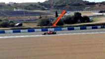 Il primo test della nuova Ferrari di Raikkonen a Jerez