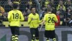 Pierre Emerick Aubameyang segna una doppietta in Borussia-Eintracht 4-0