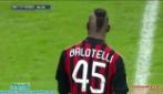 il fantastico gol di Mario Balotelli allo scadere di Milan-Bologna (1-0)