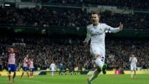 La rete di Jesé Rodriguez nella sfida con l'Atletico Madrid