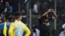 Gervinho castiga il Napoli, la Roma vince 3-2 nella semifinale di andata di Coppa Italia