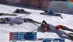 """Il """"massacro"""" dello skiathlon: le atlete arrivano stremate al traguardo"""