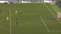 Il gol a giro di Insigne contro il Sassuolo