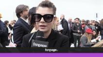 """Emma Marrone alla Fashion Week: """"Non sto guardando Sanremo"""""""