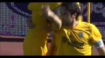 Il gol di Toni a Livorno