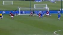 Milan Petagna fa gol al Chelsea in Yout League