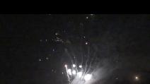 fuochi d'artificio al carnevale Trezzo D'adda