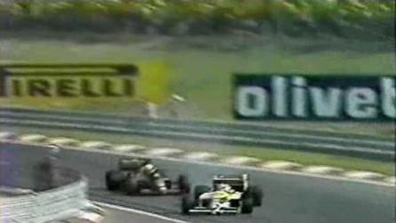 Il sorpasso capolavoro di Piquet su Senna durante il Gp d'Ungheria del 1986