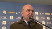 """De Laurentiis: """"Il campionato del Napoli? I conti li facciamo alla fine"""""""
