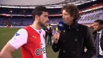 """Pellè litiga con un giornalista: """"Hai la faccia del tifoso dell'Ajax"""""""