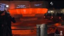 8 marzo, fontana Quirinale tinta di rosso per ricordare donne vittime violenza