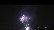 Rogo del povero Piero e fuochi d'artificio al carnevale di