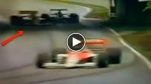 Riflessi e talento: Ayrton Senna mantiene la monoposto in pista come nessuno