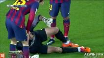 Il grave infortunio a Victor Valdes del Barcellona