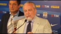 """De Laurentiis stoppa Sarri: """"Siamo forti, niente polemiche arbitrali"""""""